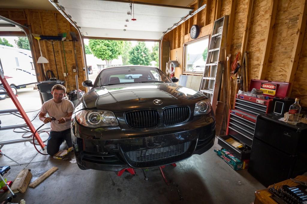 BMW 135i downpipe install