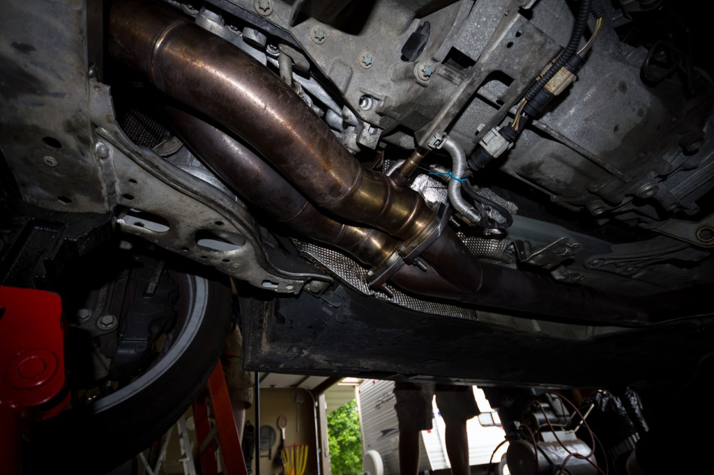 "BMW 135i - VRSF 3"" downpipes installed"