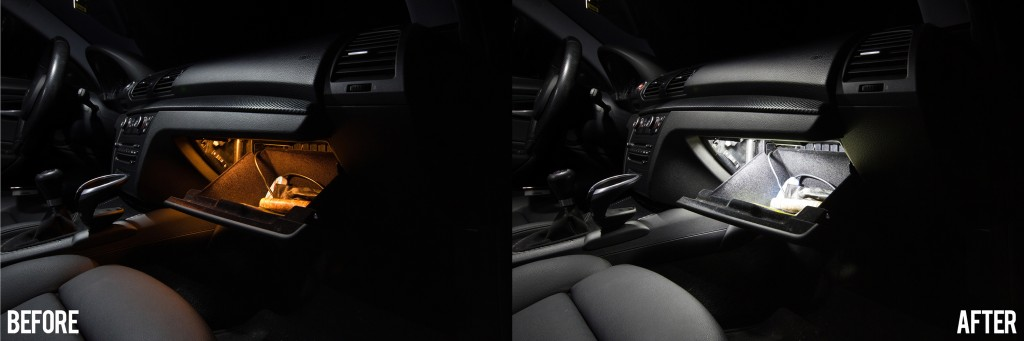 BMW 135i - glove box light conversion