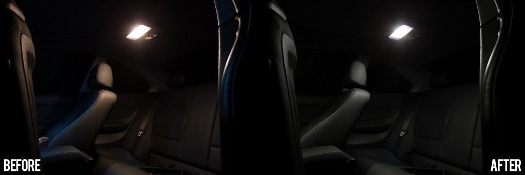 BMW 135i - rear dome light conversion