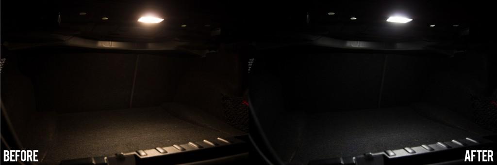 BMW 135i - trunk light conversion