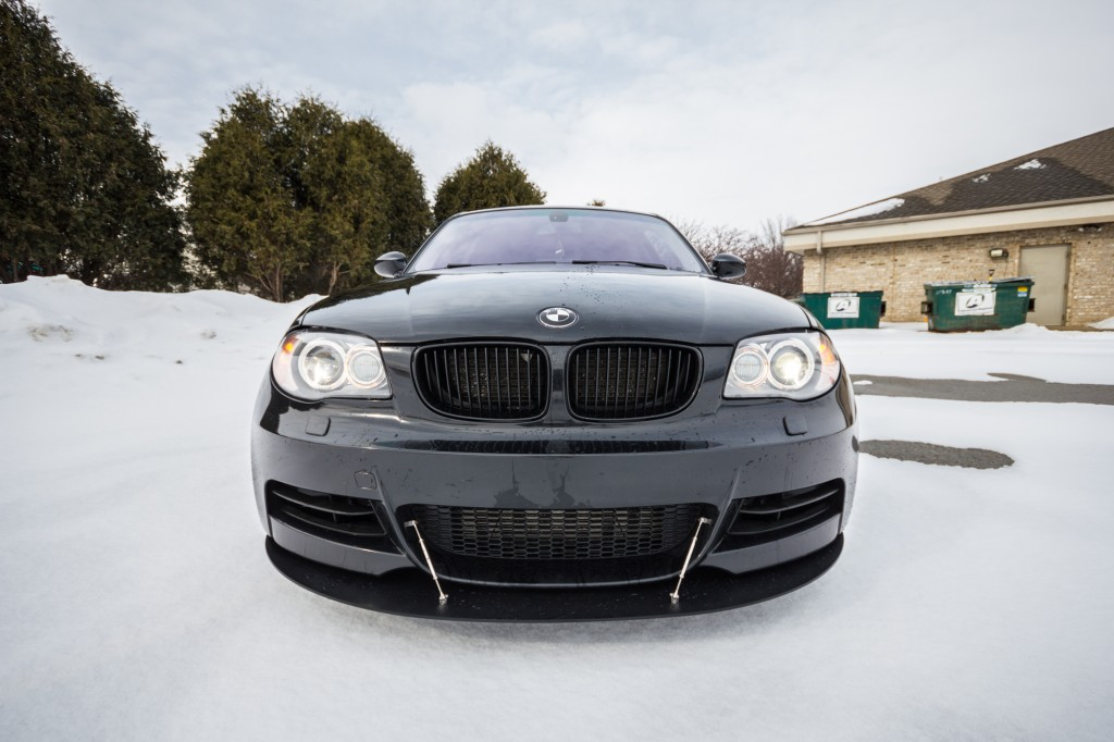 BMW 135i - custom front splitter installed