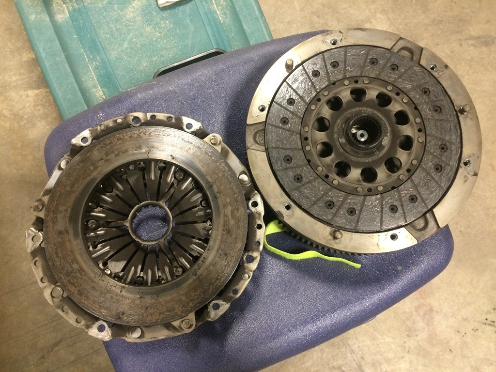 Old clutch and flywheel
